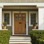 Front door of a suburban home