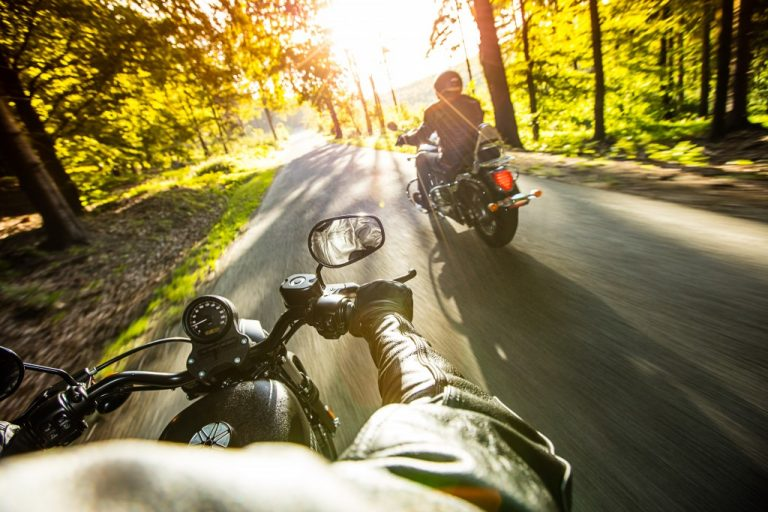 two motor bikers