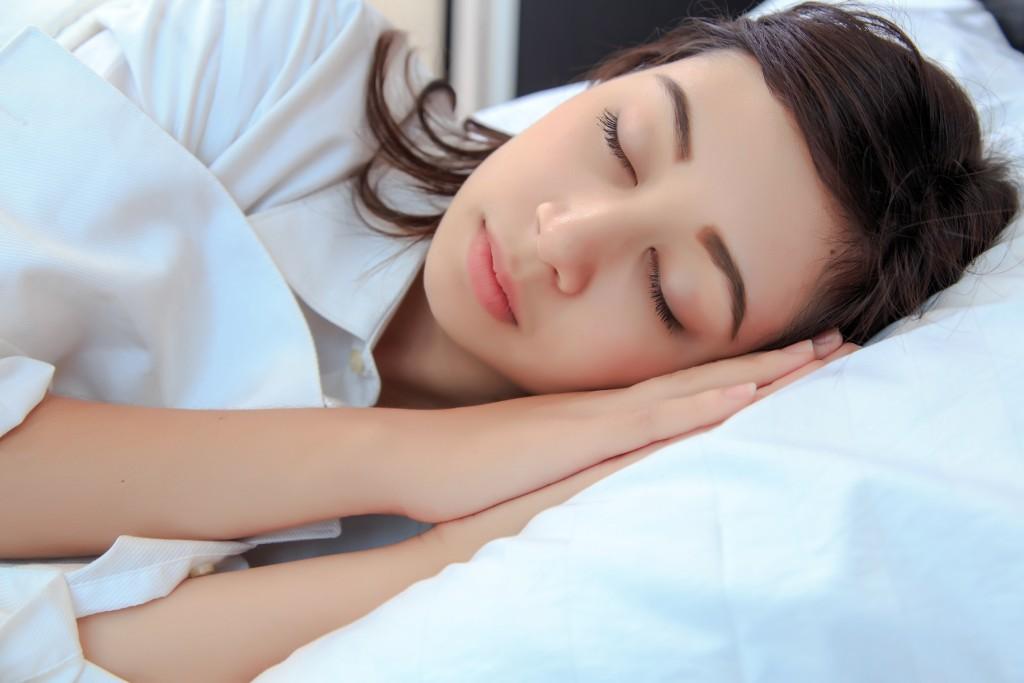 female sleeping