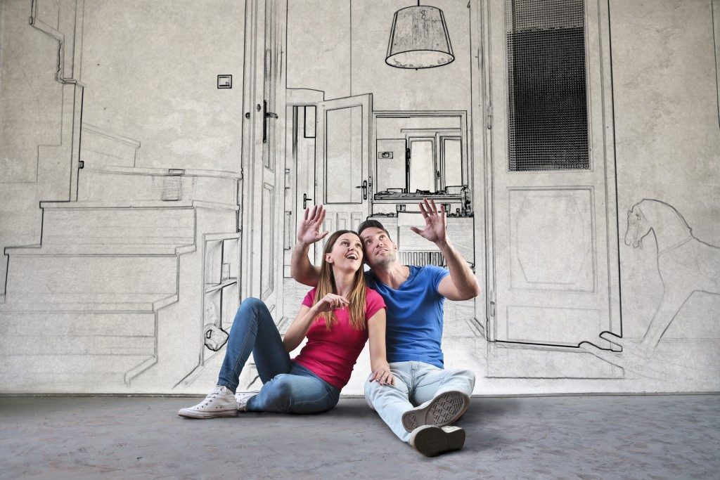 couple imagining interior of dream home