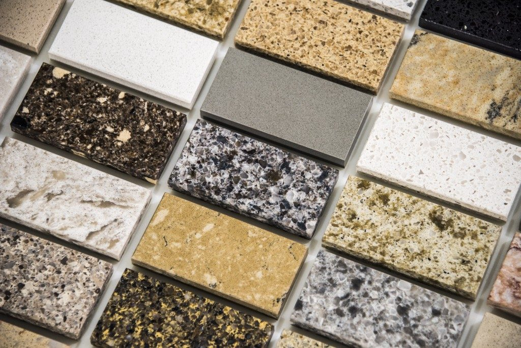 Granite kitchen countertop samples