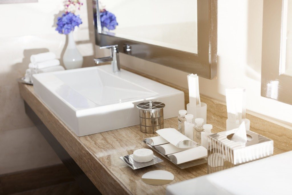 bathroom sink with vanities