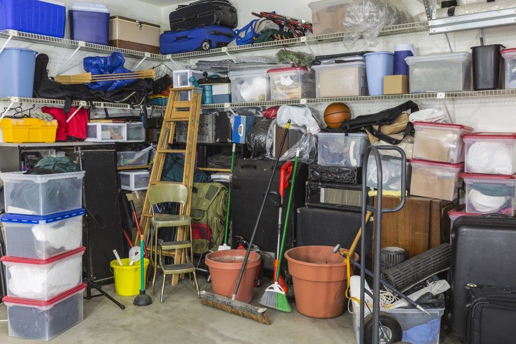 a filled up garage