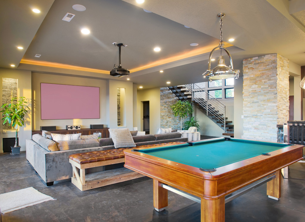 Entertainment Center and Rec Room in Luxury Home