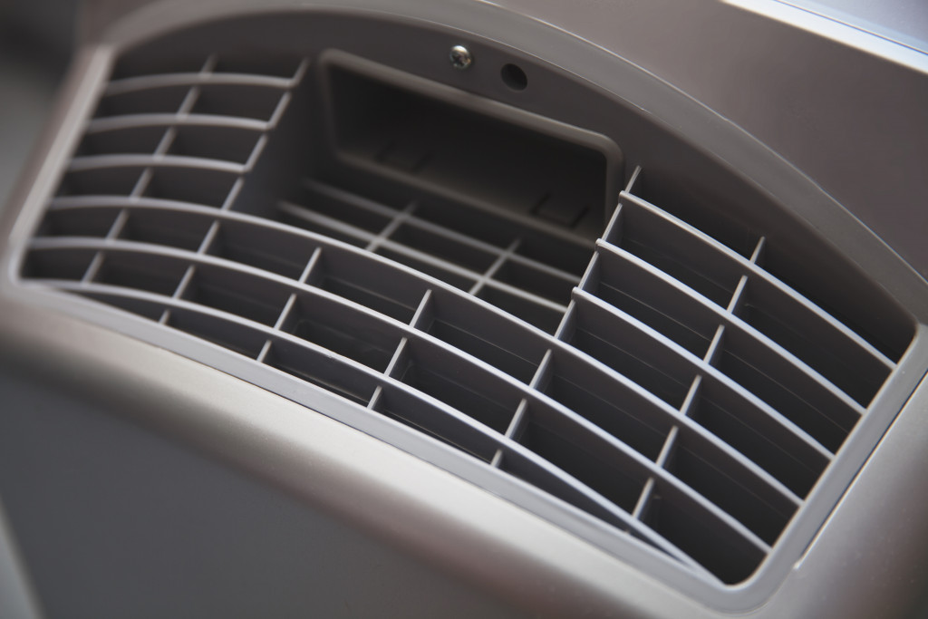 Close up of air purifier