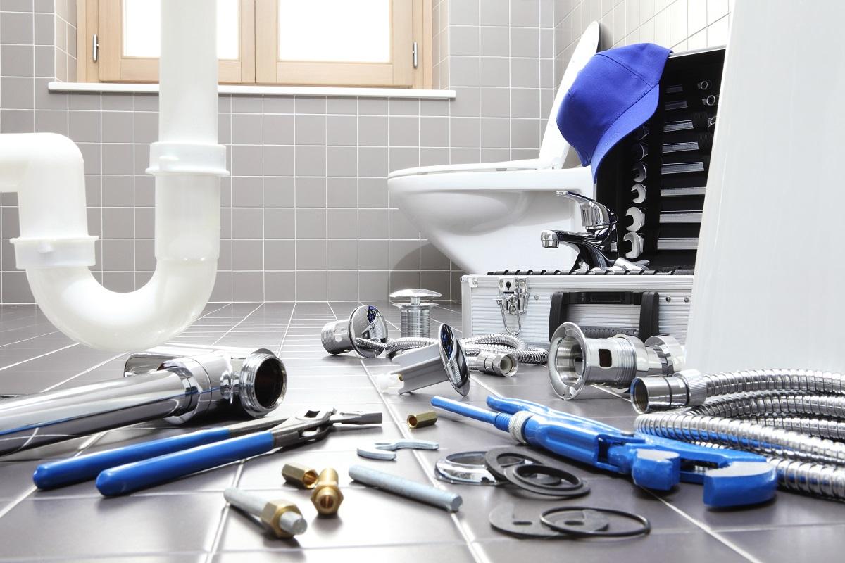 plumbing bathroom concept