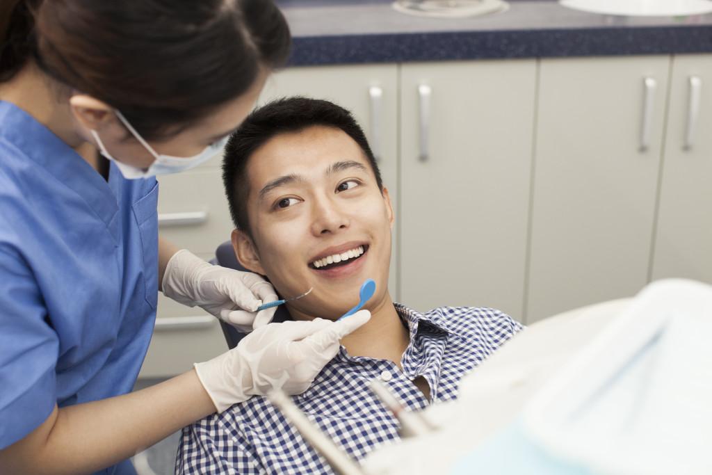 check up at the dentist