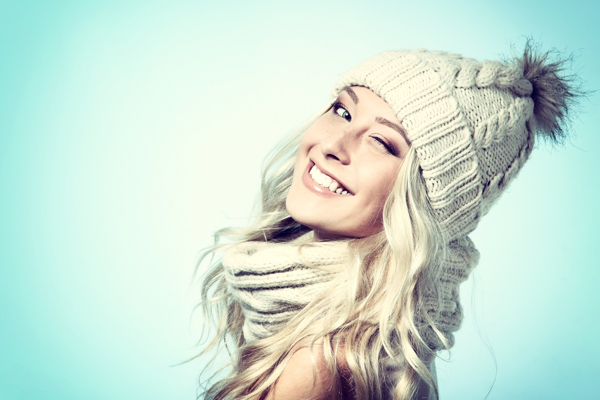 wearing a scarf