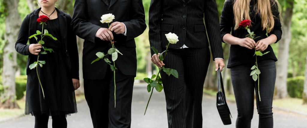 attending a funeral