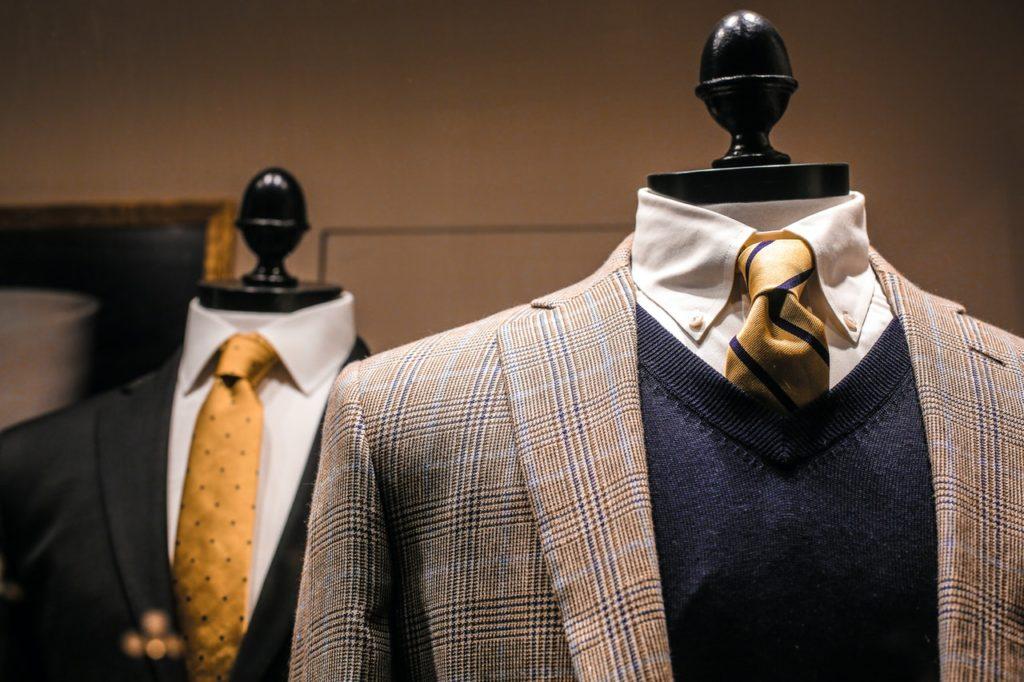 suits on mannequins