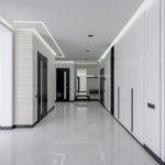 a well-lit hallway
