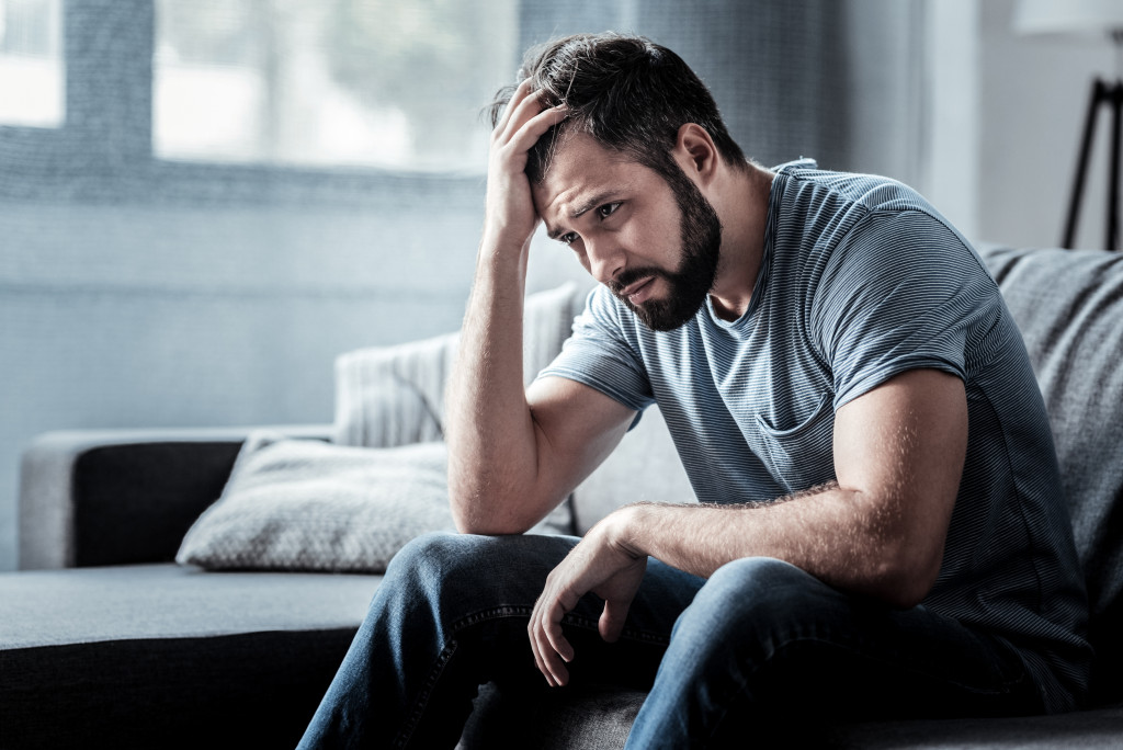 man emotional