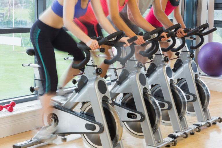 women on elliptical