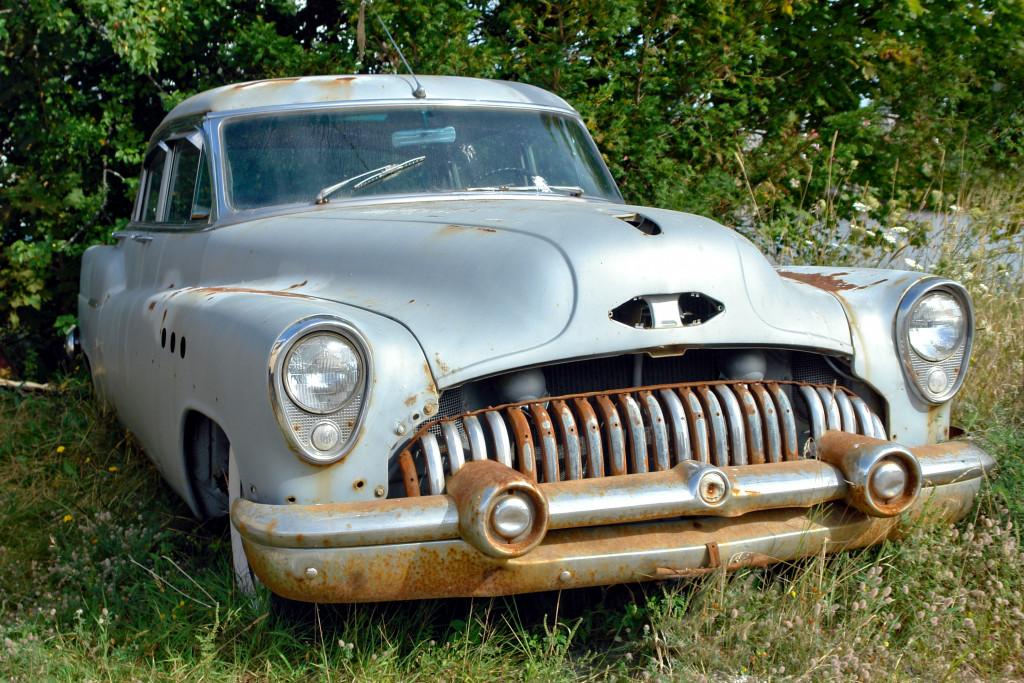 classic car rusting junk