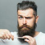 dad combing beard